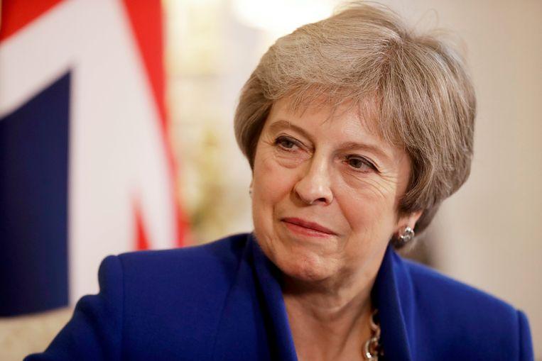 De Britse premier Theresa May. Beeld AP