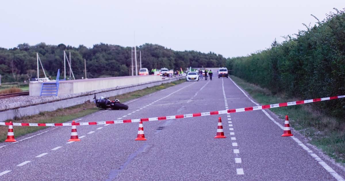 Motorrijder verongelukt op Brouwersdam.