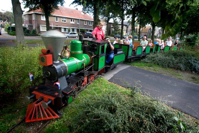 De stoomtrein in het Goffertpark Nijmegen.