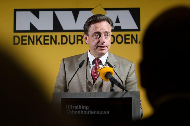 Bart De Wever is niet van plan om tijdens de campagne een breekpunt te maken van een nieuwe staatshervorming. Beeld Photo News