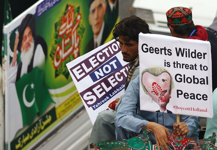 In Karachi wordt 'Geerts Wilders' gezien als bedreiging voor de wereldvrede. Beeld EPA