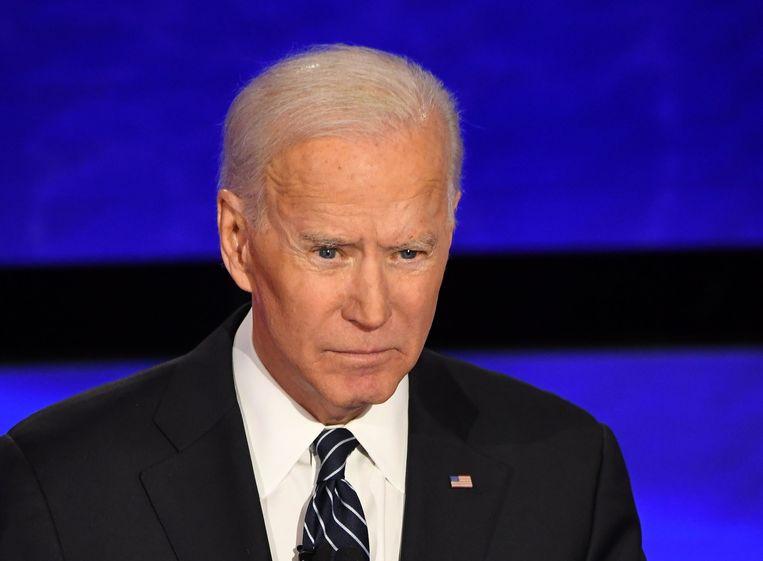 Joe Biden werd ermee geconfronteerd dat hij in 2003 als senator vóór de invasie van Irak had gestemd. Beeld AFP