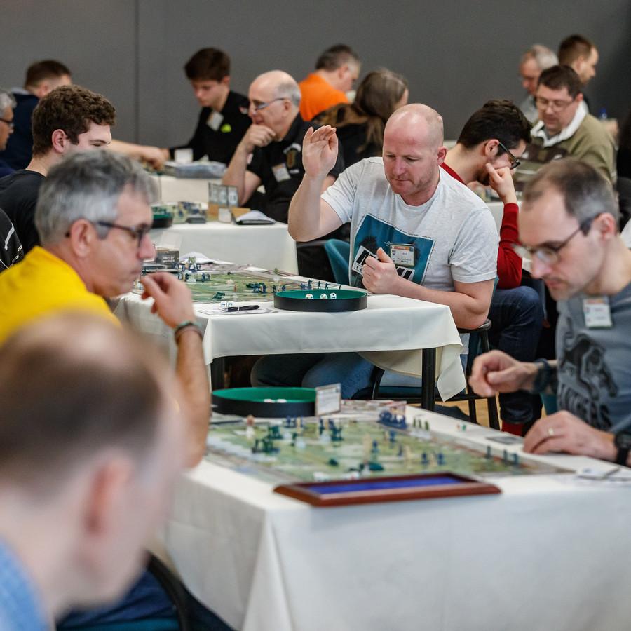 De Niervaert was dit weekend gevuld met fanatieke spelers van het spel Memoir'44.