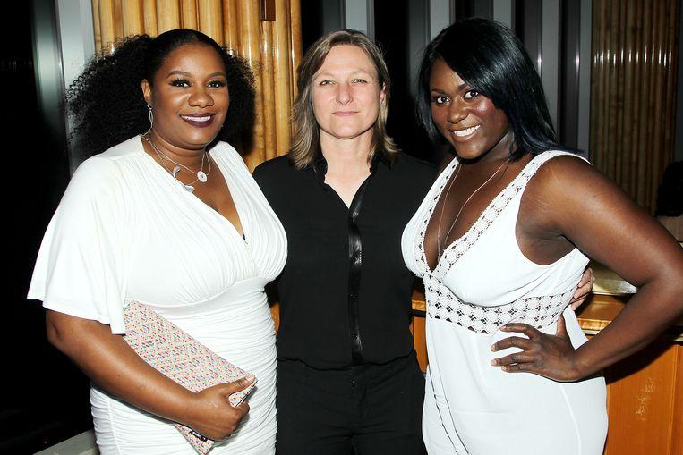 Cindy Holland (midden) is achter de schermen verantwoordelijk voor een groot deel van het succes van Netflix. Beeld rv Netflix
