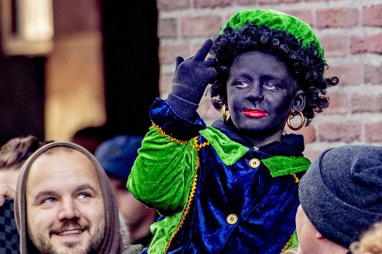 Een protest tegen het afvoeren van Zwarte Piet in Nederland Beeld ANP