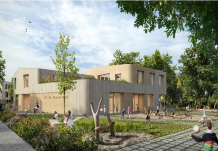 Voorlopig ontwerp van de nieuwbouw van De Zwaneridder.