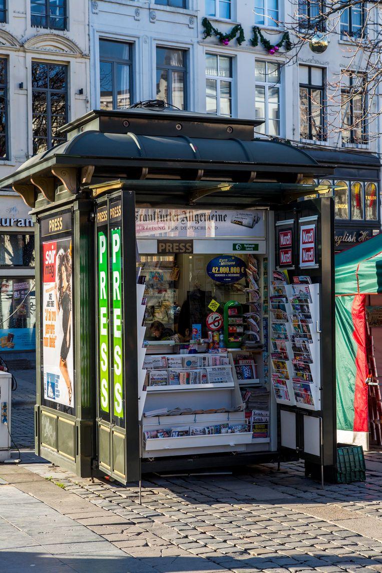De kiosk aan Louizapoort, Brussel Beeld Alamy Stock Photo