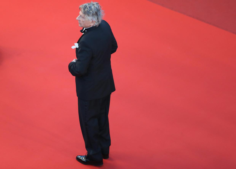 Roman Polanski poseert op de rode loper bij het Festival Palace, 2017. Beeld AFP