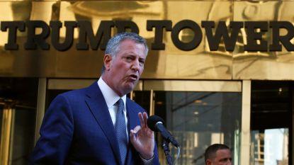 """Burgemeester New York strijdvaardig: """"Trump moet geld dat hij de stad schuldig is terugbetalen"""""""