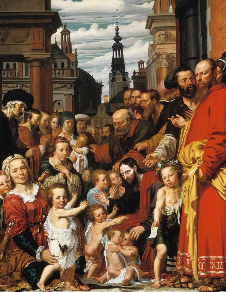 Laat de kinderen tot mij komen: Michiel Poppen en zijn familie, ca. 1620, Werner van den Valckert. Beeld Museum Catharijne Convent