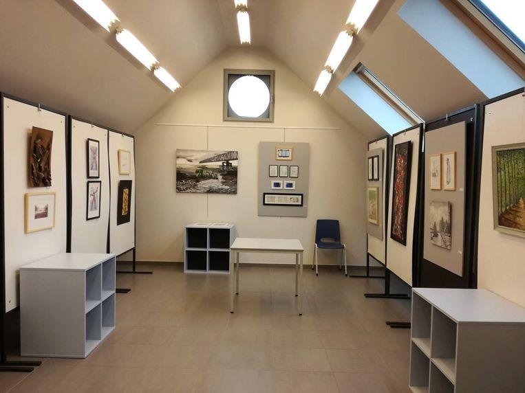 De nieuwe tentoonstellingsruimte in het gemeenschapscentrum van Kessel.