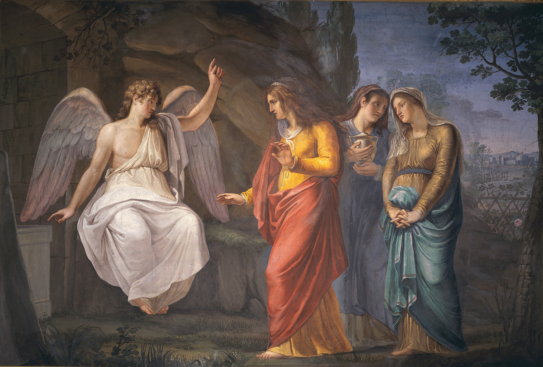 Fresco van de drie Maria's aan het graf in de Santa Maria Maddalena dei Pazzi-kerk in Florence. Beeld Mondadori via Getty Images