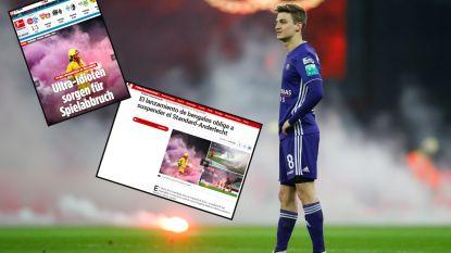 """Wangedrag van """"Ultra-Idioten"""" tijdens Standard-Anderlecht ontging ook (grote) buitenlandse media niet: """"Wahnsinn"""""""