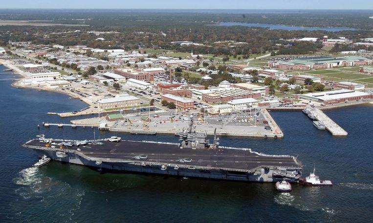 De Amerikaanse legerbasis in Pensacola.