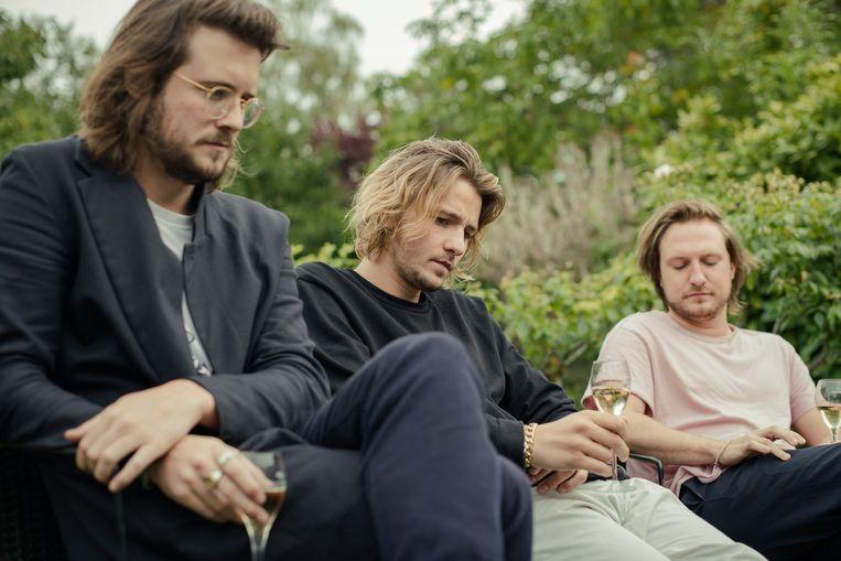 De band Bazart in gesprek met 'De Morgen'. Beeld Tim Coppens