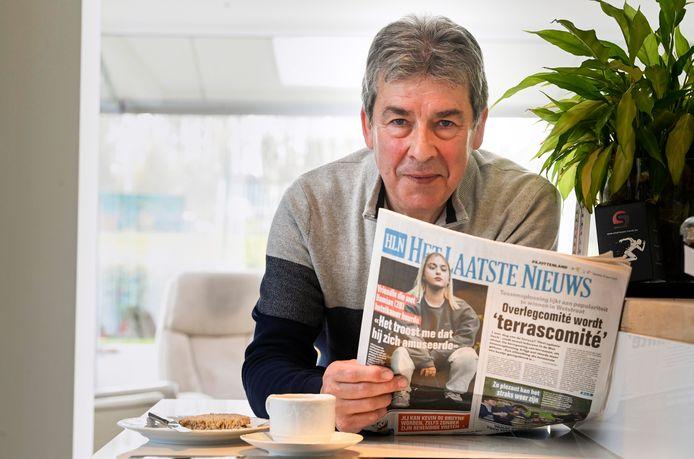 """""""Het wringt als de postbode per ongeluk een verkeerde krant in de bus stopt"""", bekent Dirk Van Cauteren uit Liedekerke"""