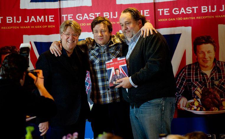 Robert Kranenborg, Jamie Oliver en Julius Jasper. Beeld
