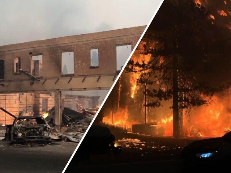 Amerikaans dorp totaal verwoest door bosbrand