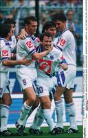 Nilis met onder meer Degryse en Albert tegen Standard in 1995.