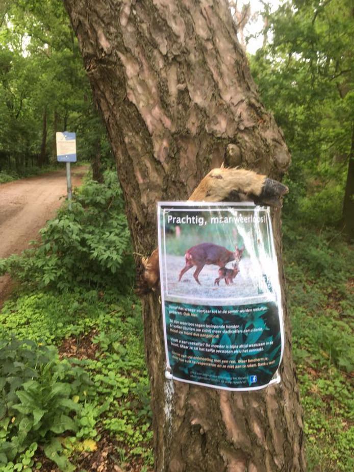 Opnieuw is er een afgehakte dierenpoot in het bos gevonden.