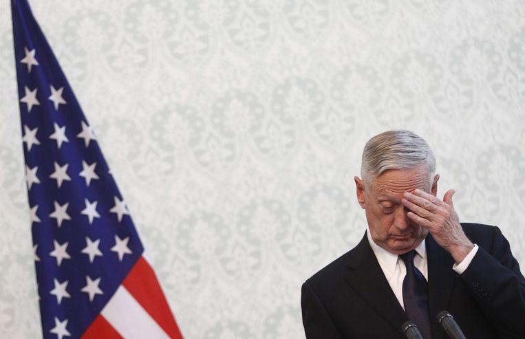 Generaal op rust James Mattis trekt zijn conclusies en stapt op als Amerikaans defensieminister. (Archieffoto december 2017)