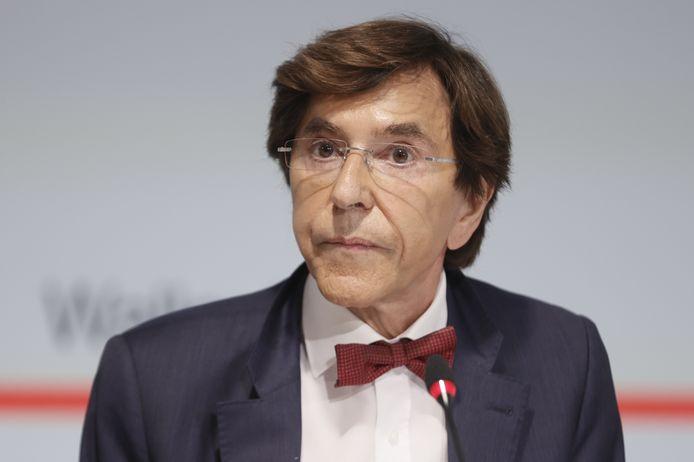 Le ministre-président wallon Elio Di Rupo en conférence de presse à Namur, le 27 juillet 2021.