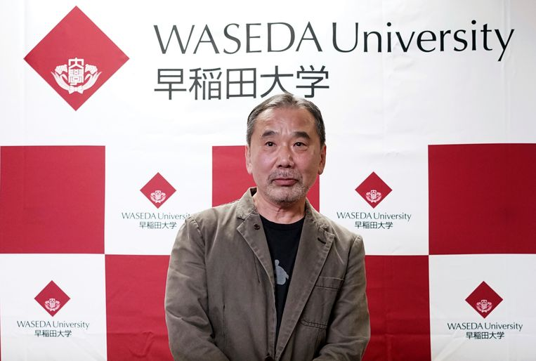 De persconferentie van Murakami was de eerste in 37 jaar. Beeld AP