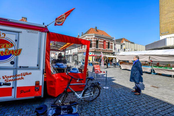 De Bergse weekmarkt mag in aangepaste vorm toch doorgaan.