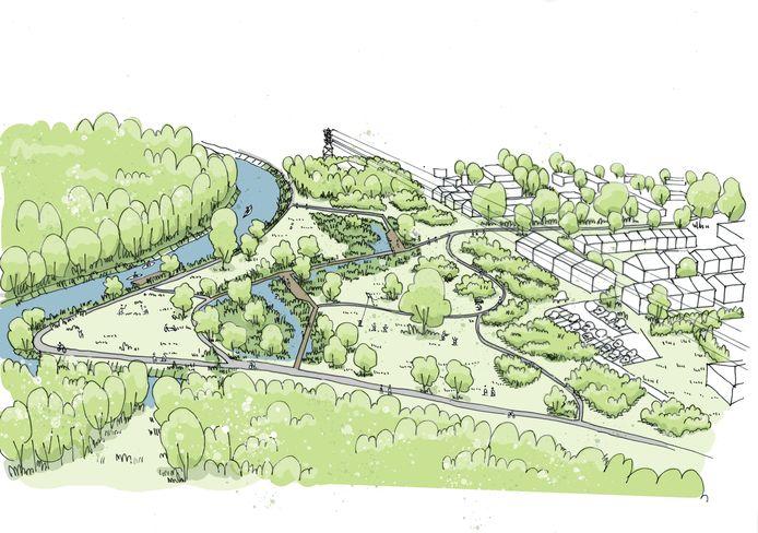 Studio Basta stelde een eerste plan voor van het Heirbrugpark.