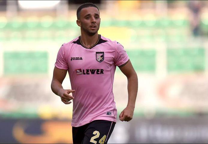 Ouasim Bouy als speler van Palermo.
