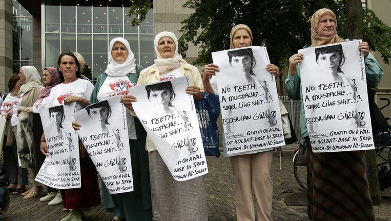 Leden van de 'Moeders van Srebrenica', op een archieffoto uit 2007. © anp Beeld