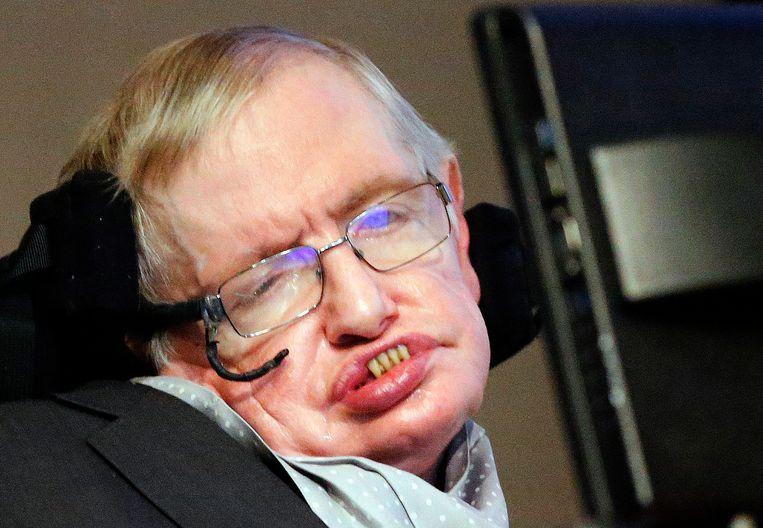 Wijlen professor Stephen Hawking in 2015. Beeld AP