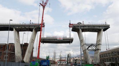 Eerste deel ingestorte brug Genua ontmanteld: 10 uur werk voor stuk van 36 meter
