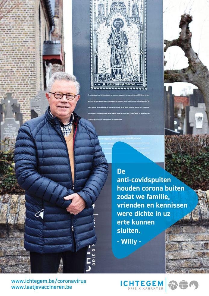 Zes inwoners van Ichtegem spelen een hoofdrol in een nieuwe vaccinatiecampagne: Willy