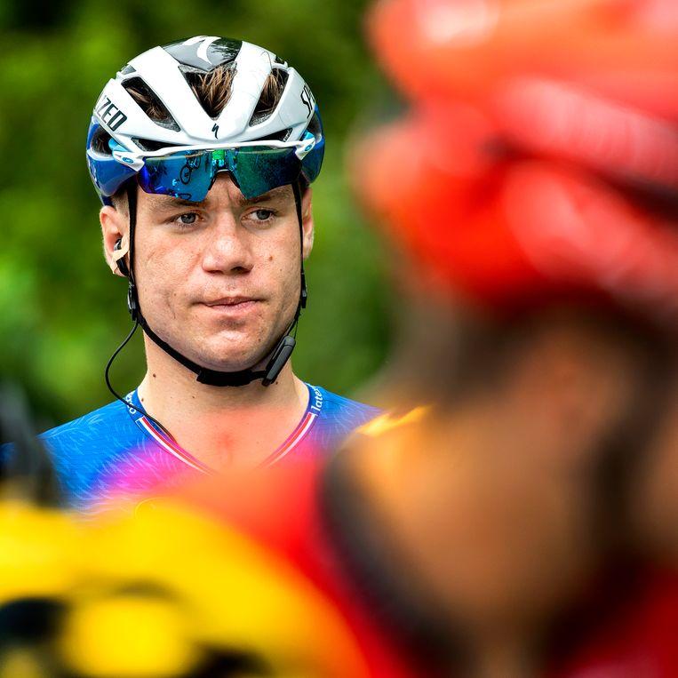 Fabio Jakobsen, voor de start van het NK.  Beeld Klaas Jan van der Weij