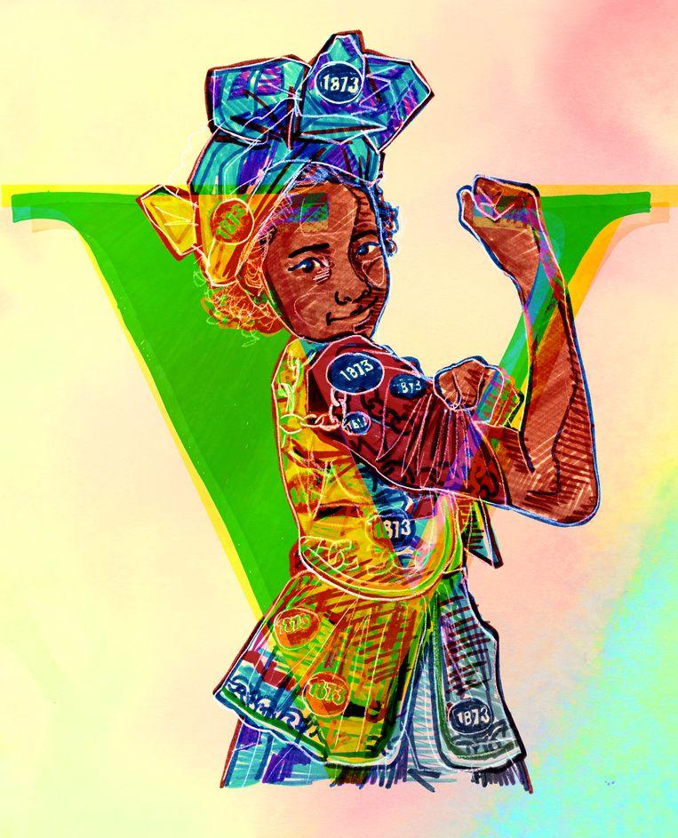 De Keti Koti-maand sluit op 1 juli af, de dag dat in 1863 de slavernij in de voormalige Nederlandse koloniën in het Caribisch gebied werd afgeschaft.  Beeld Brian Elstak