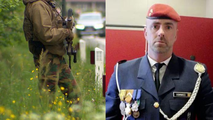 Rechts: militair Jürgen Conings, die ondertussen overleden is.