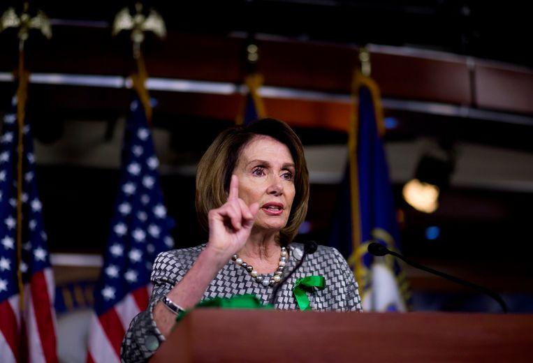 Nancy Pelosi, fractieleider van de Democraten in het Huis van Afgevaardigden.