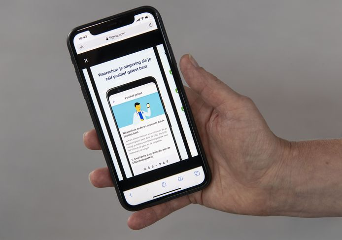 De corona-meld-app wordt getest in Twente.