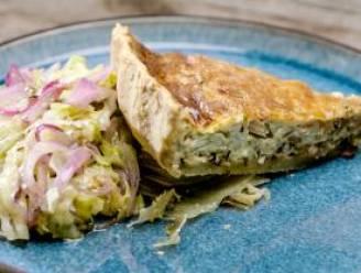 Maak een lekkere quiche lorraine met salade