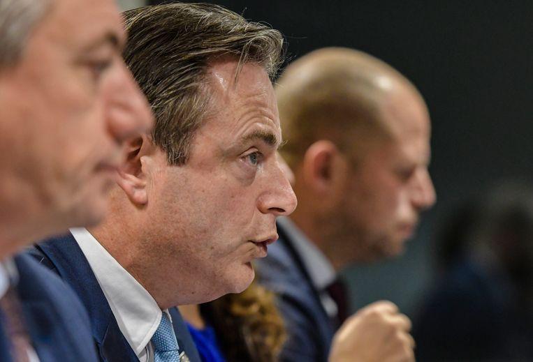Jan Jambon, Bart De Wever en Theo Francken.  Beeld Photo News