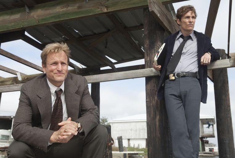 Woody Harrelson en Matthew McConaughey, beiden genomineerd voor een Emmy. Beeld ap