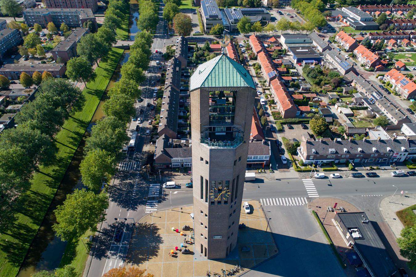 Archieffoto van de oude watertoren in Emmeloord.
