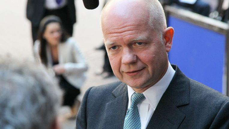 De Britse minister van Buitenlandse Zaken William Hague Beeld EPA