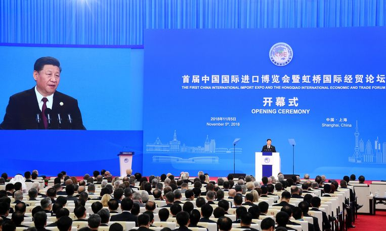 De Chinese president Xi Jinping. Beeld AFP