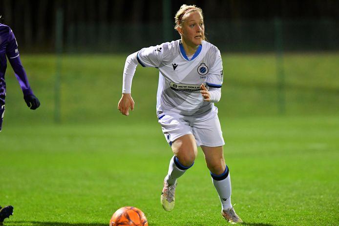 Celien Guns scoorde in Luik de eerredder voor Club YLA in de blessuretijd.