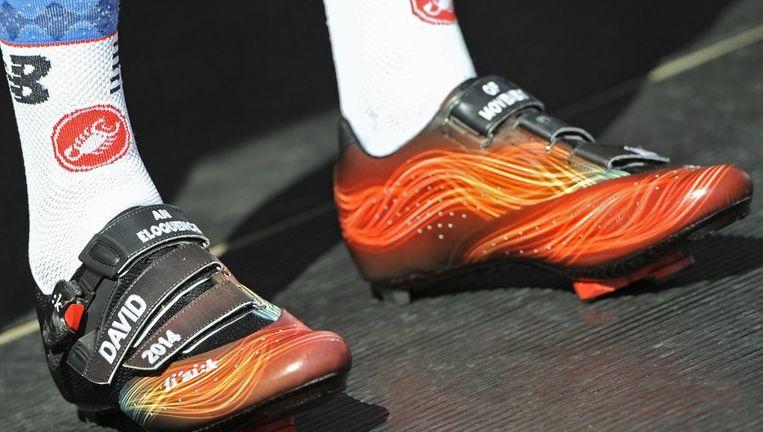 Met dit schoeisel verreed Millar de Scheldeprijs afgelopen woensdag. Beeld PHOTO_NEWS