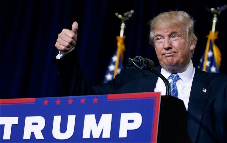 De Republikeinse presidentskandidaat Donald Trump. Beeld AFP