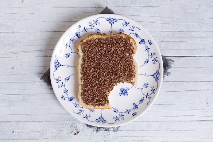 Hagelslag op brood.