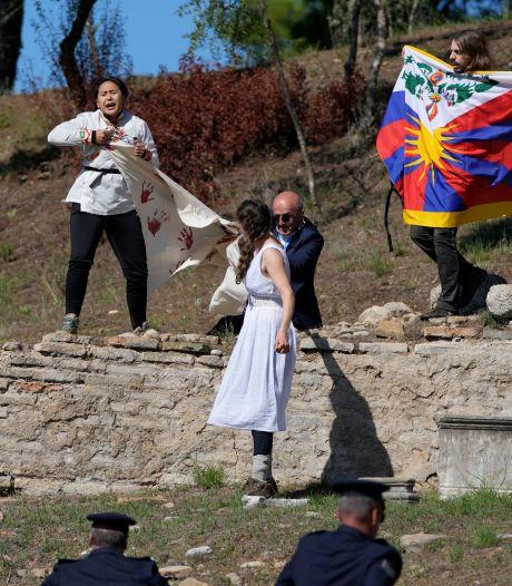 Demonstranten verstoren ontsteking olympische vlam